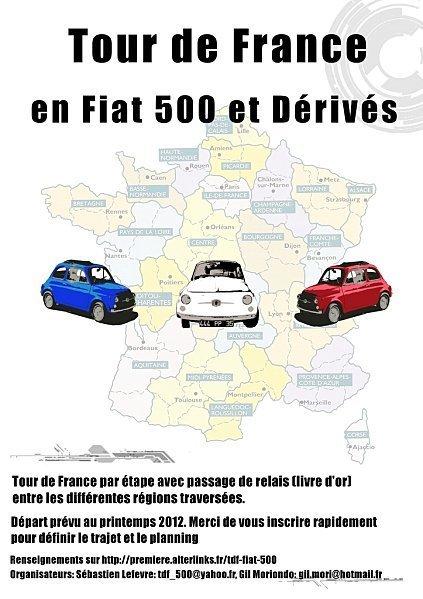 Tour de France en Fiat 500 en 2012 | Toulouse networks | Scoop.it
