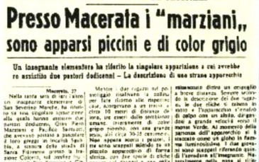 1954: quando furono visti gli extraterrestri nel Maceratese | Le Marche un'altra Italia | Scoop.it