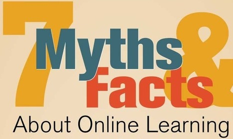 7 Myths and Facts About Online Learning [Infographic] | Cool School Ideas | Scoop.it