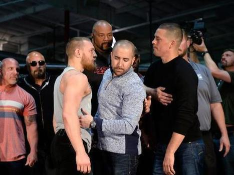 UFC 196 Conor McGregor vs Nate Diaz |Tensions boil over as scuffle breaks out during staredown after insults - McGregor vs Diaz | IdeaOur.com | Scoop.it