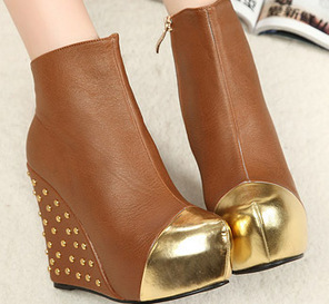 Wholesale Fashion wedges with rivet leather shoes SY-C1815 brown - Lovely Fashion | Chic summer streetstyle(sandals) | Scoop.it