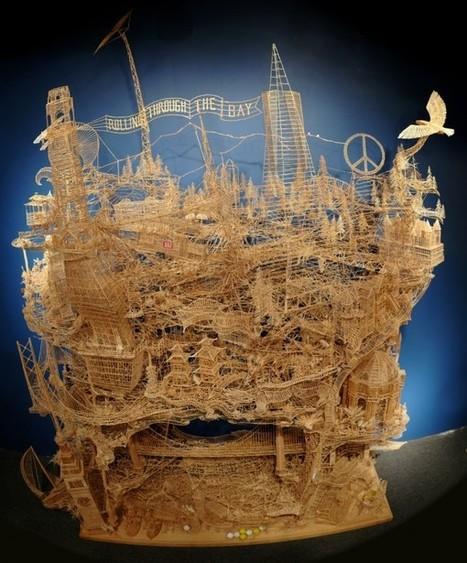 Unbelievable San Francisco sculpture made of 100.000 toothpicks   Arts   Scoop.it