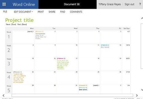 Project Timeline Calendar Template for Word   Free Microsoft Word Templates   Scoop.it
