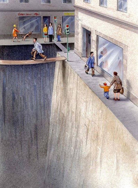 This Swedish artist captures the importance of complete streets in one image - Urbanful | Community: Building, revitalizing, engaging | Scoop.it