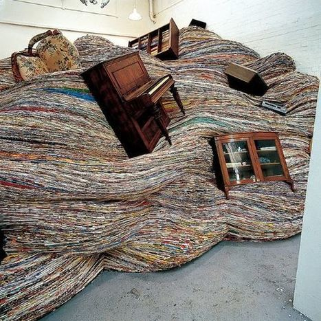 Massive #Waves Of Old #Magazines Consume #Everyday #Objects. #art #installations | Luby Art | Scoop.it