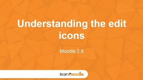 Moodle 2.8 Understanding Editing Icons | Moodle and Web 2.0 | Scoop.it