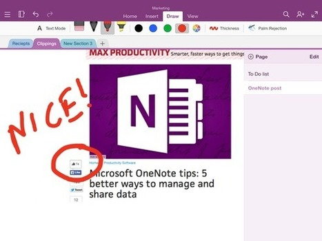 OneNote for iPad tips to make you more productive - Macworld | E-learning | Scoop.it