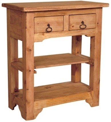Rustic Side Table- 2 Drawers | Mexican Decor | Scoop.it