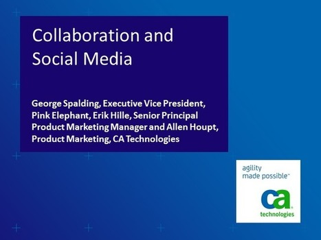 Collaboration and Social Media: What does it mean to ITSM? (1 priSM CPD) | BrightTALK | Social Media Article Sharing | Scoop.it