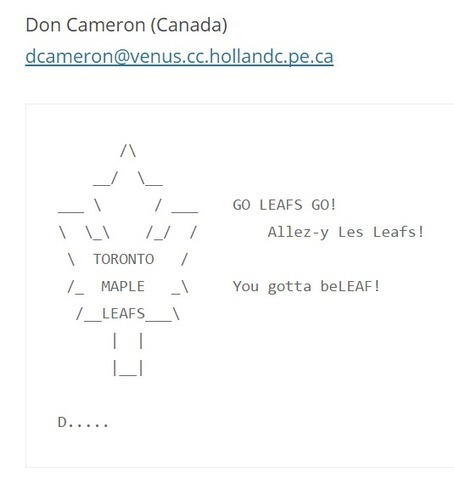 For the Toronto Maple Leafs – ASCII Artist | ASCII Art | Scoop.it