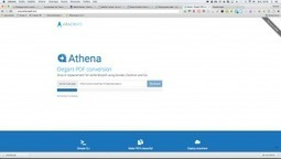 Athena PDF: une excellente solution pour convertir des pages web en pdf – Le coutelas de Ticeman | François MAGNAN  Formateur Consultant | Scoop.it