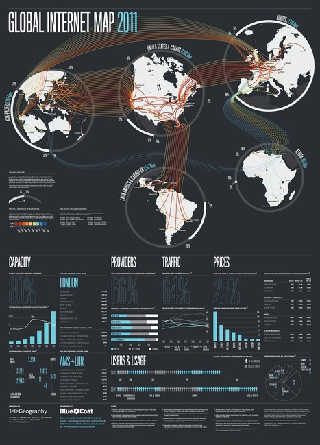 Global internet map 2011 | Map@Print | Scoop.it