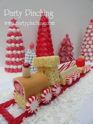 Christmas Desserts on Christmas Dessert Table  Sweet Dreams    Party Planning   Party Ideas