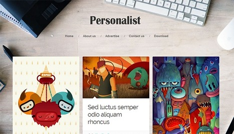 Personalist Responsive Blogger Template | Blogger Templates | Scoop.it