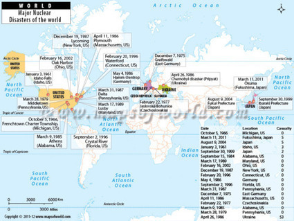 An informative map of Major Nuclear Disasters of the World -... | Geographic Information Technology | Scoop.it