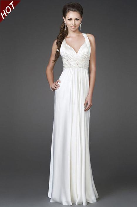 La Femme 15418 Ivory V neck Long Bridal Dress Cheap Online [La Femme 15418 Ivory] - $177.00 : La Femme Outlet, 60% Off La Femme Sale Online | gownprincess | Scoop.it