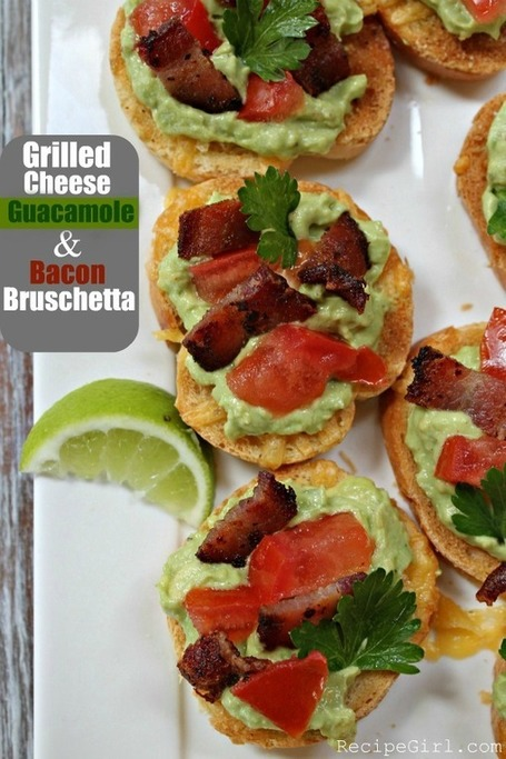 Grilled Cheese Guacamole and Bacon Bruschetta | Recipe Girl | À Catanada na Cozinha Magazine | Scoop.it