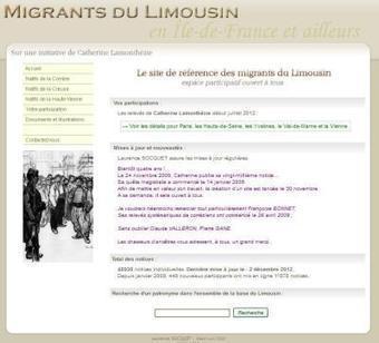 Site du jour (82) : Migrants enLimousin | Rhit Genealogie | Scoop.it