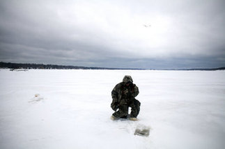 Muskegon County anglers take advantage of favorable ice fishing conditions on White Lake | Lake Effect... Fishing | Scoop.it
