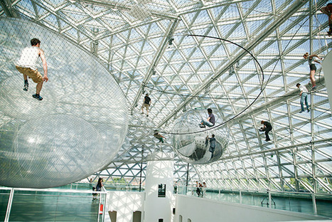 """""""In Orbit"""" Tomás Saraceno's  Latest Suspended Installation 