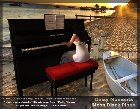 Mesh Black Piano Gift by DAISY | Teleport Hub | Second Life Freebies | Scoop.it