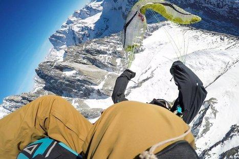 Des figures de parapente au-dessus du mont Blanc ! | Neige et Granite | Scoop.it