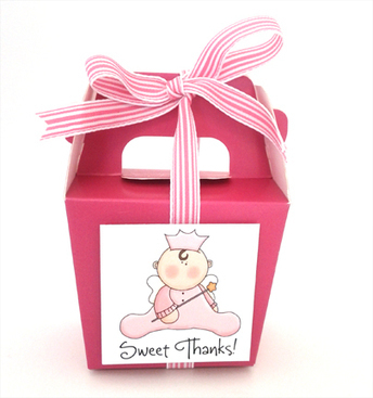 Girl Baby Angel Princess Hot Pink Party Favor Boxes - The Invitation Shop | Party Favors | Scoop.it