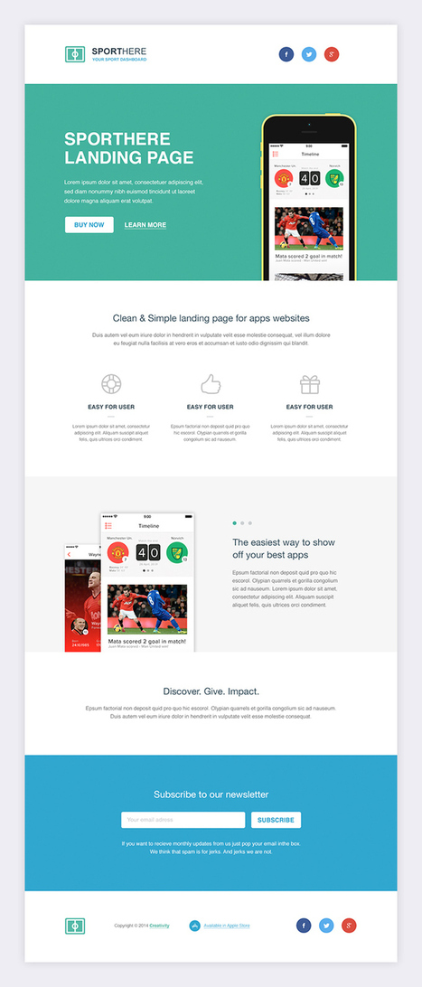SportHere Template | webdesign to webdesigners and UX designers | Scoop.it