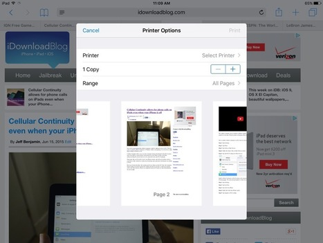 New in iOS 9: Native print preview | FileMaker Go Tip | All things Filemaker  Go | Scoop.it