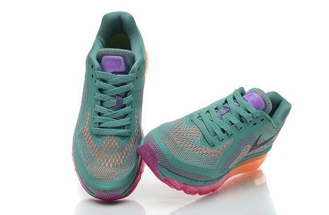 Nike Air Max 2014 Womens Green Black Orange Shoes Cheap Now | nice day | Scoop.it