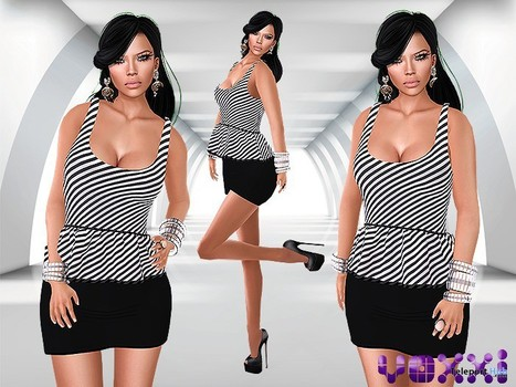 Peplum Mesh Dress Black by voxxi | Teleport Hub - Second Life Freebies | Second Life Freebies | Scoop.it