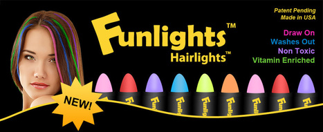 Funlights™ Hairlights™ | Temporary Colored Highlights | Marketing | Scoop.it