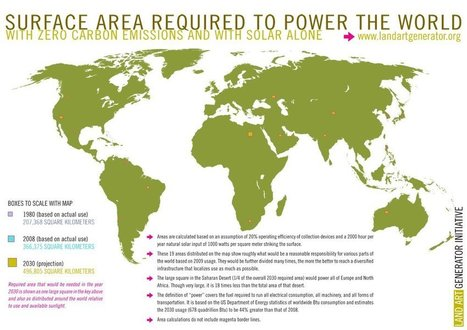 How many #solar panels would we need to power the #Earth? 460 Km2 or 192 square miles!   Messenger for mother Earth   Scoop.it
