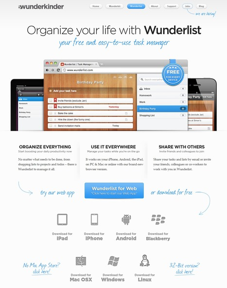 Task Management At Its Best With Wunderlist | Time to Learn | Scoop.it