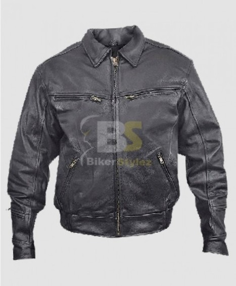 Mens Black Furious Leather Motorcycle Jacket fashion inspirational item. | Biker stylez leather jackets | Scoop.it