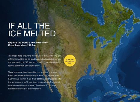 Rising Seas: If All The Ice Melted | green infographics | Scoop.it