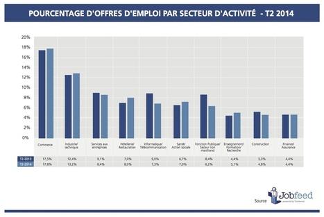 Etat des lieux de l'emploi en ligne en France au deuxième trimestre 2014 | Solutions locales | Scoop.it