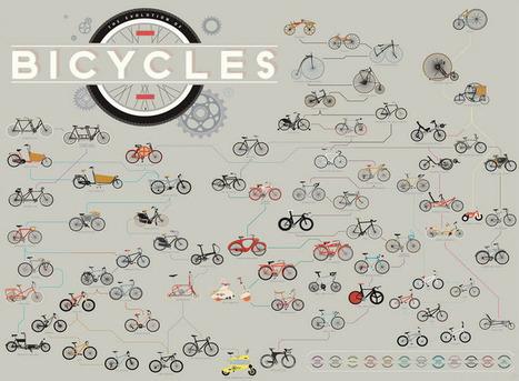 Diseño y evolución de las bicicletas en 233 años [Gráfico] - Woratek | xoliveras | Scoop.it