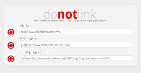 Do Not Link allows you to ethically criticize bad content | Web Marketing | Scoop.it