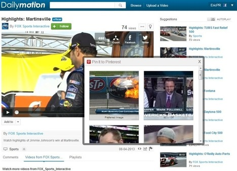 Pinterest boards receive infusion of Dailymotion videos | Pinterest | Scoop.it