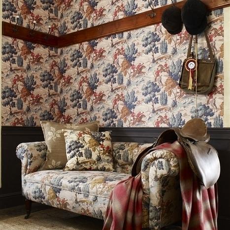 Au Fil des Couleurs - Collection Sporting Life Wallpapers : Style anglais vintage   Papier peint   Scoop.it