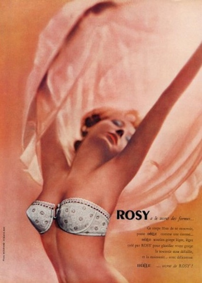 Vintage Rosy Bra Ad | Lingerie Love | Scoop.it