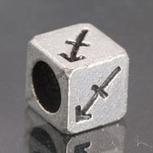 Silver Metal Beads for Pandora Charms with Alphabet 1pc PI93 [PI93] - $2.99 | Cute Pandora Charms on bracelet-bead.com | Scoop.it