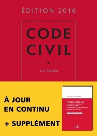 Code civil 2016 | Sélection de nouveaux livres | Scoop.it