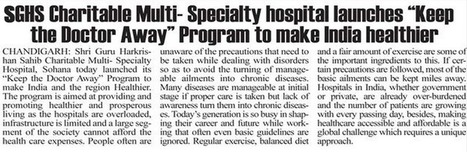 "SGHS Charitable Multi-Specialty Hospital Launches ""Keep The Doctor Away "" To Make India Healthier - SGHS 