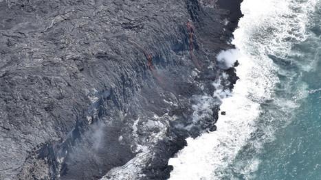 Lava Ocean Entry Widens, Building Black Sand Beach | ❀ hawaiibuzz ❀ | Scoop.it