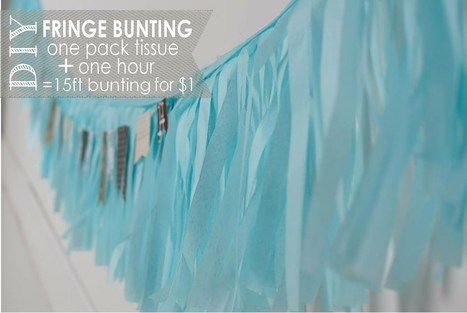 DIY Fringe Banner - Adorably cheap and easy! | DIY - Parties, Decor, & Crafts | Scoop.it