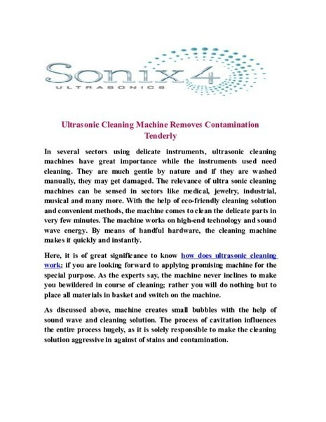 Ultrasonic Cleaning Machine Removes Contamination Tenderly - PDF | Ultrasonic Equipment, Industrial and dental Ultrasonic Cleaning System | Scoop.it