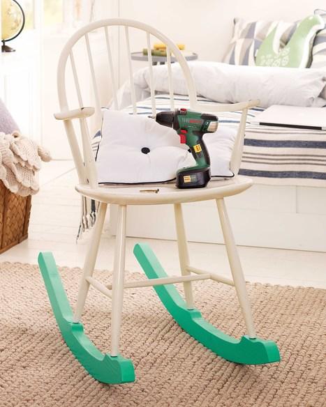 Créer une amusante chaise à bascule pour l'intérieur ou l'extérieur #idée #DIY #déco #jardin | Best of coin des bricoleurs | Scoop.it