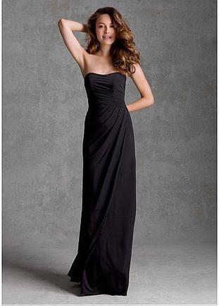[109.99] Elegant Chiffon Strapless Neckline Natural Waistline Floor-length Sheath Bridesmaid Dress  - Dressilyme.com | braidsmaid dresses | Scoop.it